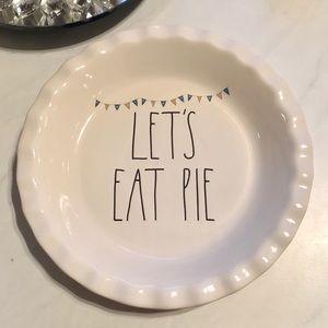 Rae Dunn Pie Plate | Let's Eat Pie